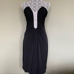 Black & White Beaded Dress